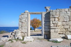 Ruins of an Ancient Greek temple Royalty Free Stock Image