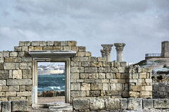 Ruins of an Ancient Greek temple Stock Photography