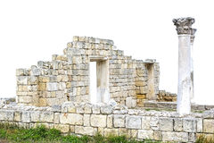 Ruins of an Ancient Greek temple Royalty Free Stock Photo