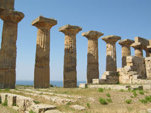 Ruins of ancient greek Temple of Hera in Selinunte Royalty Free Stock Photography
