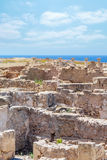 Ruins of ancient greek temple, Saranda Kolones Royalty Free Stock Image