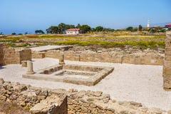 Ruins of ancient greek temple, Saranda Kolones Stock Photo