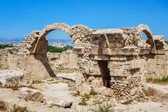 Ruins of ancient greek temple, Saranda Kolones Stock Image