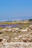Ruins of ancient greek temple, Saranda Kolones Stock Images