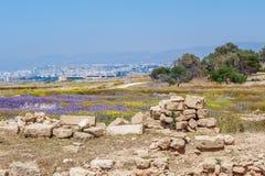 Ruins of ancient greek temple, Saranda Kolones Royalty Free Stock Images