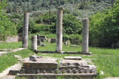 Ruins of ancient Greek temple Stock Images