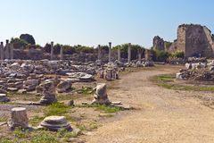Ruins of ancient Greek theater Royalty Free Stock Photo
