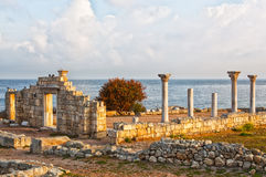 Ruins of ancient Greek town Chersonese in Crimea Royalty Free Stock Photography