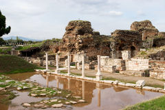 Ruins of the ancient gym in Sardis, a city of the Roman Empire n Royalty Free Stock Photography