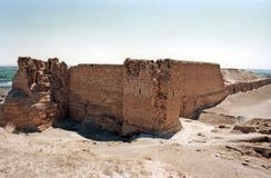 Dura europos. The ruins of the ancient hellenistic city of duro europos in syria Royalty Free Stock Photography
