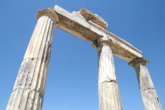 Ruins of ancient Hierapolis Royalty Free Stock Images