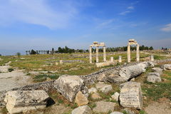 Ruins of ancient Hierapolis. Now Pamukkale, Turkey Stock Photos