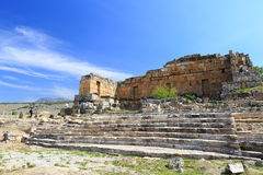 Ruins of ancient Hierapolis. Now Pamukkale, Turkey Royalty Free Stock Images