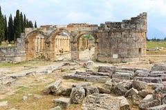 Ruins of ancient Hierapolis. Now Pamukkale, Turkey royalty free stock photos