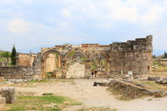 Ruins of ancient Hierapolis. Now Pamukkale, Turkey Royalty Free Stock Image