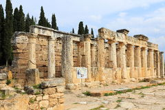 Ruins of ancient Hierapolis. Now Pamukkale, Turkey stock photography