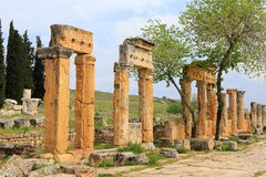 Ruins of ancient Hierapolis. Now Pamukkale, Turkey Stock Photo