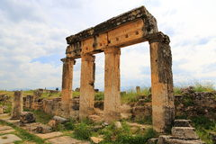 Ruins of ancient Hierapolis Stock Photos