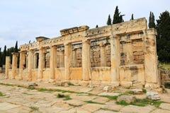 Ruins of ancient Hierapolis. Now Pamukkale, Turkey royalty free stock photo