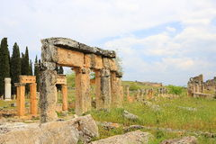 Ruins of ancient Hierapolis Royalty Free Stock Photography
