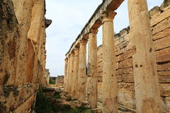 Ruins of ancient Hierapolis. Now Pamukkale, Turkey stock photos