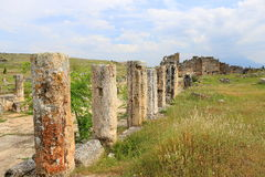 Ruins of ancient Hierapolis. Now Pamukkale, Turkey stock images