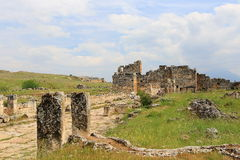 Ruins of ancient Hierapolis Stock Photo