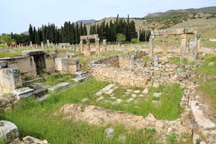 Ruins of ancient Hierapolis Stock Photography