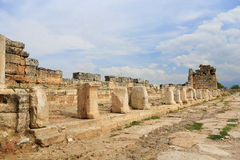 Ruins of ancient Hierapolis. Now Pamukkale, Turkey Stock Image