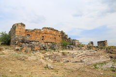 Ruins of ancient Hierapolis Royalty Free Stock Photos