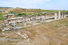 Ruins of ancient Hierapolis Stock Image