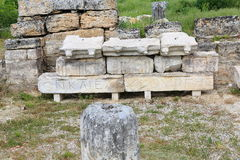 Ruins of ancient Hierapolis Stock Photos