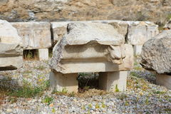 Ruins of ancient Hierapolis Stock Image