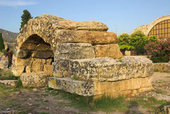 Ruins of ancient Hierapolis, Pamukkale. Turkey Stock Image