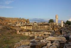 Ruins of ancient Hierapolis, Pamukkale. Turkey Royalty Free Stock Photos