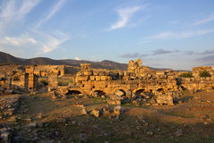 Ruins of ancient Hierapolis, Pamukkale. Turkey Royalty Free Stock Images