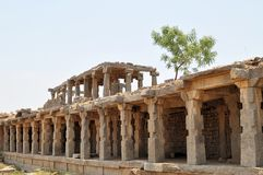 Ruins of Ancient Hindu civilization, Hampi, India Royalty Free Stock Image