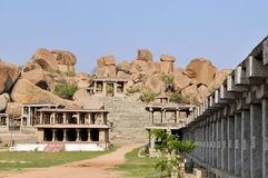 Ruins of Ancient Hindu civilization, Hampi, India Stock Images