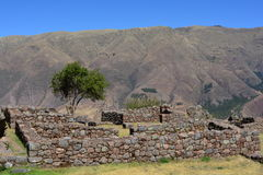 Ruins of the ancient inca town of Tipón, near to Cusco, Peru. Ruins of the Tipón city, part of the Inca empire, in the Cusco region, Peru Stock Photos