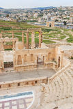 Ruins of the ancient Jerash, the Greco-Roman city of Gerasa in modern Jordan. Amman, Jordan - March 23,2015: Ruins of the ancient Jerash, the Greco-Roman city of Stock Photography