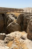Ruins Of Ancient Jericho, Israel. Excavated ruins of the ancient city of Old Jericho, Israel Stock Photography