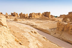 The Ruins of the ancient Jiaohe city,China Royalty Free Stock Photography