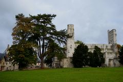 Ruins of the ancient Jumieges Abbey royalty free stock photo