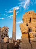 Ruins of ancient Karnak in the Karnak Temple Complex in Egypt. Karnak Temple is one of Egypt best destinations for tourists and is situated in Luxor City, on stock photography