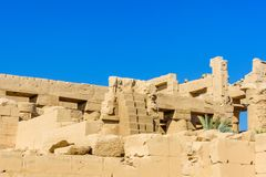 Ruins of the ancient Karnak temple. Luxor, Egypt stock images