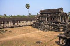 Ruins of ancient Khmer temple - Angkor Wat Stock Photos