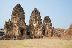 On the ruins of the ancient Khmer temple Wat Phra Prang Sam Yot. Lopburi Stock Images
