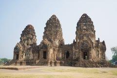 Ruins of the ancient Khmer temple Wat Phra Prang Sam Yot. Lopburi, Thailand Stock Photography