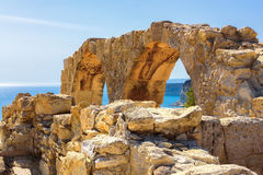 Ruins of Ancient Kourion. Limassol District. Cyprus Royalty Free Stock Photography