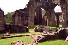 Ruins of Ancient Llanthony priory, Abergavenny, Monmouthshire, Wales, Uk Stock Images